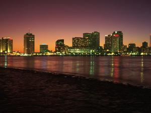 Skyline After Sunset, New Orleans, Louisiana by Kevin Leigh