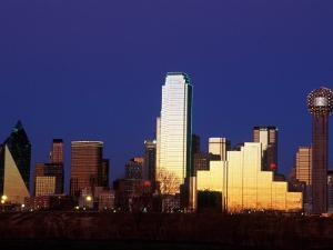 Skyline at Dusk, Dallas, TX by Kevin Leigh