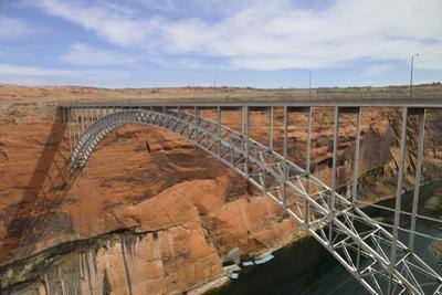 Arizona, Coconino Co, Glen Canyon Dam Bridge across the Colorado River