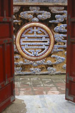 Asia, Vietnam. Ornate Wall at the Citadel, Hue, Thua Thien?Hue by Kevin Oke
