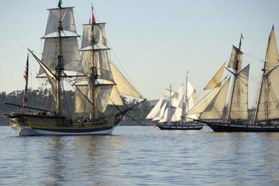 B.C, Victoria. the Brig Lady Washington Is a Reproduction Ship