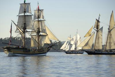 B.C, Victoria. the Brig Lady Washington Is a Reproduction Ship by Kevin Oke