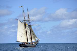 British Virgin Islands, Jost Van Dyke. Freedom Schooner Amistad under Sail by Kevin Oke