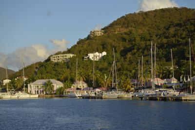 British Virgin Islands, Tortola. Boats at the Marina in West End