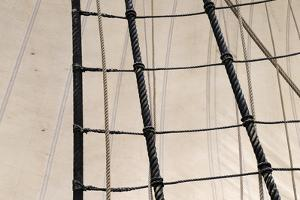 Canada, B.C, Victoria. Rigging and Sails on the Hms Bounty by Kevin Oke