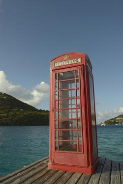 Caribbean, Marina Cay. Pusser's Red Box English Telephone by Kevin Oke