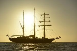 Ecuador, Galapagos Islands, Isabela Island. Ss Mary Anne at Sunset by Kevin Oke