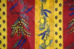 France, Aix-En-Provence. Textiles, Cours Mirabeau Market by Kevin Oke