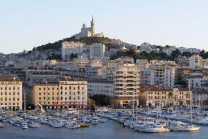 France, Bouches Du Rhone, Marseille. View Overlooking Vieux Port by Kevin Oke