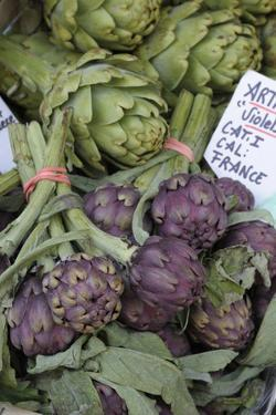 France, Vaucluse, Lourmarin. Purple Artichokes at Market by Kevin Oke