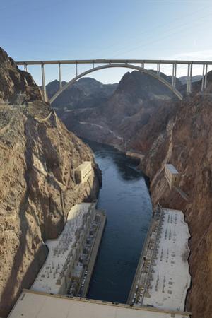 USA, Nevada, Hoover Dam and the Mike O'Callaghan-Pat Tillman Memorial Bridge. by Kevin Oke