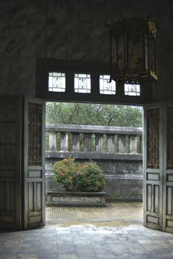 Vietnam. Doors Leading to a Patio, Khai Dinh Tomb, Hue, Thua Thien–Hue by Kevin Oke