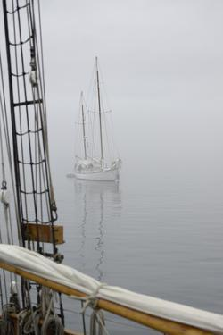 Washington State, Port Townsend. Sailboat in the Fog Off Port Townsend by Kevin Oke