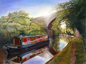 Kate Boat on the Grand Union Canal, 2001 by Kevin Parrish