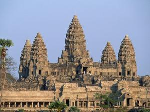Central Towers of Angkor Wat, Cambodia by Kevin R. Morris