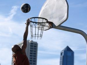 Urban Basketball Action by Kevin Radford