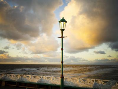 Lamp on North Pier, Blackpool, England, Uk