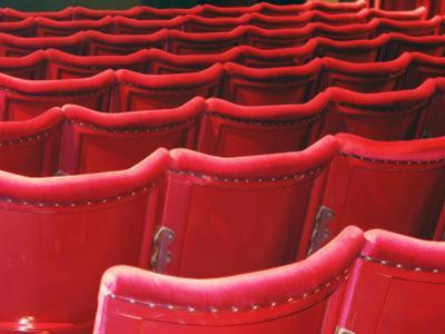 Rows of Red Theatre Seats