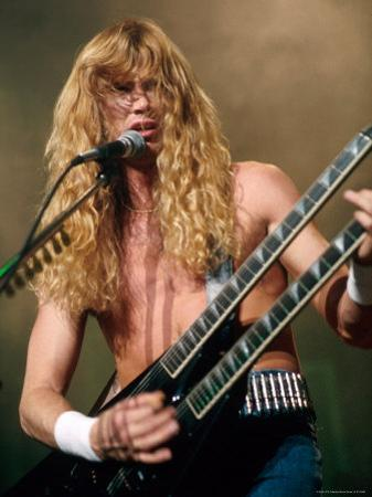 Dave Mustaine, Lead Singer of Megadeth, Performing