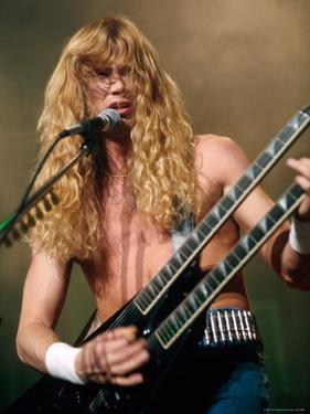 Dave Mustaine, Lead Singer of Megadeth, Performing by Kevin Winter