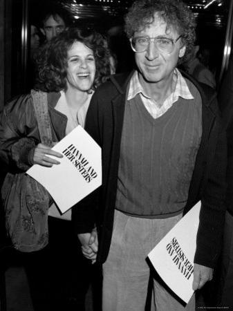 "Married Actors Gilda Radner and Gene Wilder at Film Premiere of ""Hannah and Her Sisters."""