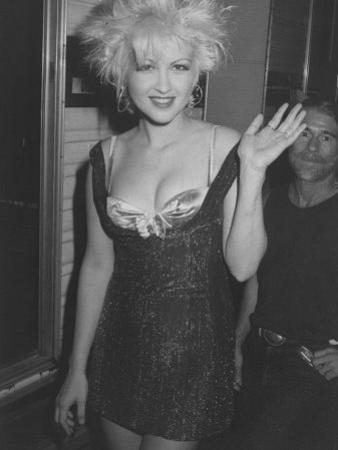 Singer Cyndi Lauper on Her Way to Attend the Mtv Video Awards