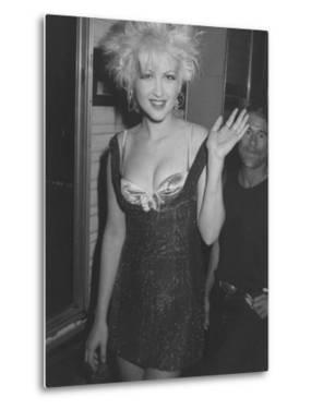 Singer Cyndi Lauper on Her Way to Attend the Mtv Video Awards by Kevin Winter