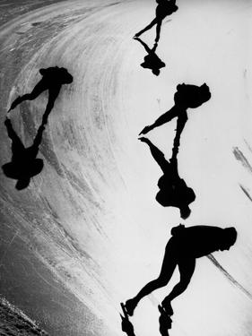 Speed Skaters by Keystone