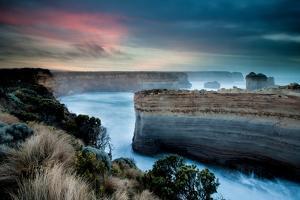 Sunrise Glow over Limestone Cliffs by KF Shots