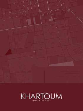 Khartoum, Sudan Red Map