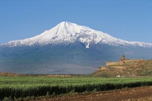 Khor Virap Monastery, 17th Century, Near Artashat, with Mount Ararat in Background, Armenia