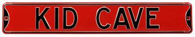 Kid Cave Steel Street Sign - Red/Black