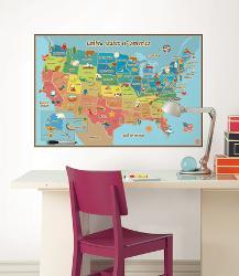Affordable Map Wall Decals Posters for sale at AllPosters.com