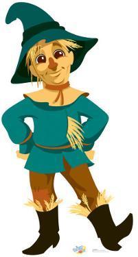 Kids Wizard of Oz - Scarecrow Lifesize Cardboard Cutout