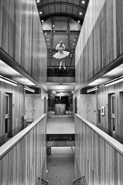 A Ballerina Dancing in Kroon Hall at Yale University by Kike Calvo