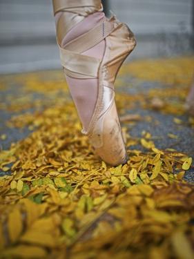 A Ballerina in Pointe Shoes by Kike Calvo