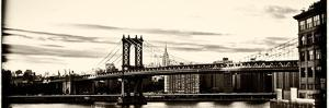 A Manipulated Image of the Manhattan Bridge and East River by Kike Calvo