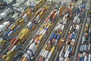 An Aerial View of the Port of Balboa, on Panama's West Coast by Kike Calvo