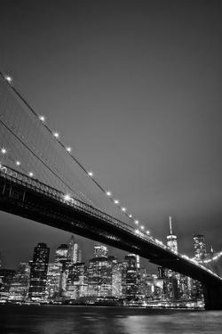 Brooklyn Bridge and Manhattan Skyline in the Background by Kike Calvo