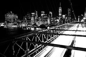 Brooklyn Bridge with Manhattan Skyline in the Background by Kike Calvo