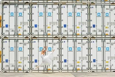 Dancers of the National Ballet of Panama, Posing in the City Port by Kike Calvo