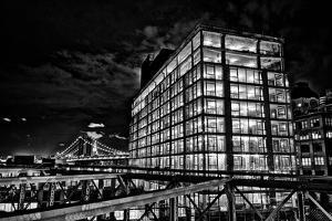Dumbo and the Manhattan Bridge Seen from the Brooklyn Bridge by Kike Calvo