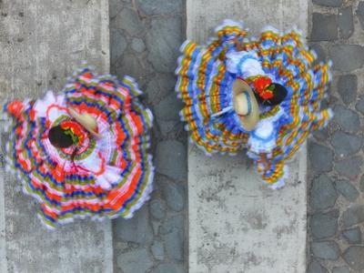 El Sanjuanero Folk Dancers Wearing Traditional Attire by Kike Calvo