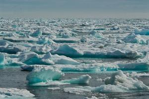 Ice Covering the Ocean Surface Along Lower Baffin Island, in the Hudson Strait and the Labrador Sea by Kike Calvo