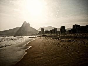 Ipanema Beach as the Sun Sets by Kike Calvo
