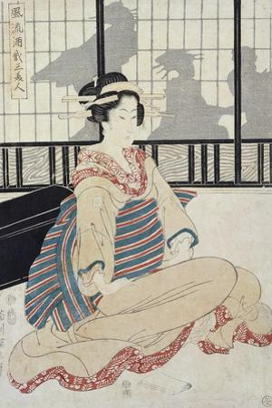 Seated Courtesan by Kikugawa Toshinobu Eizan