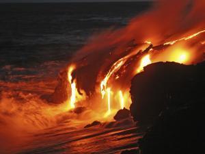 Kilauea Lava Flow Sea Entry, Big Island, Hawaii