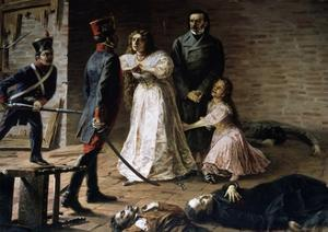 Killing of Some Participants from Revolutionary Movement by Spanish Troops from Lima