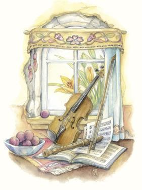 Violin and Recorder by Kim Jacobs