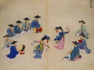 Musicians with Dancers by Kim Junkeun